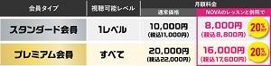 NOVA LIVE STATION20%割引